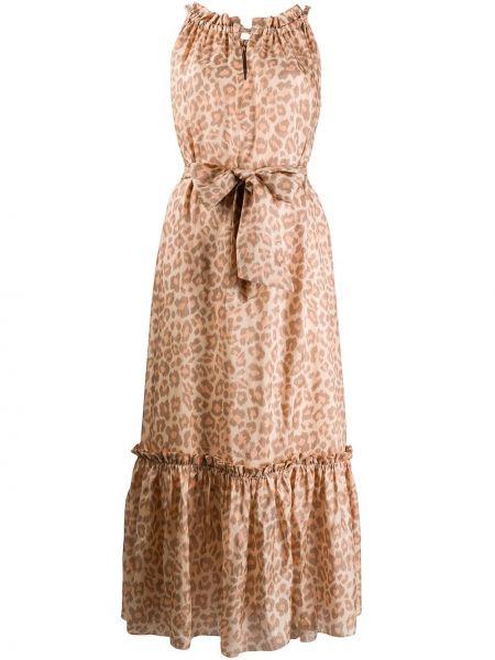 Платье леопардовое с оборками Zimmermann