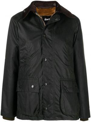 Пальто с мехом - зеленое Barbour