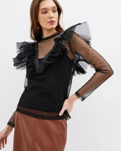 Блузка с коротким рукавом черная итальянский Imperial