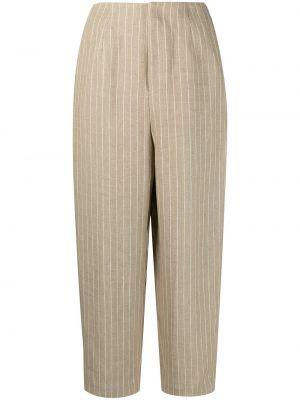 Spodnie z wysokim stanem - białe Enfold