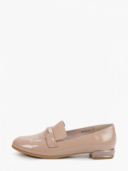 Кожаные туфли бежевый лаковые Pierre Cardin