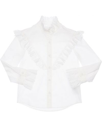 Biała koszula bawełniana koronkowa Philosophy Di Lorenzo Serafini