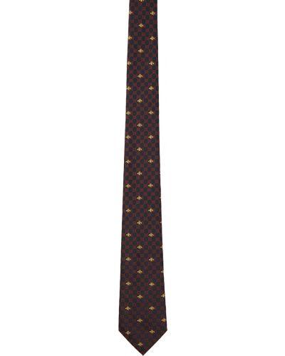 Krawat z jedwabiu - żółty Gucci