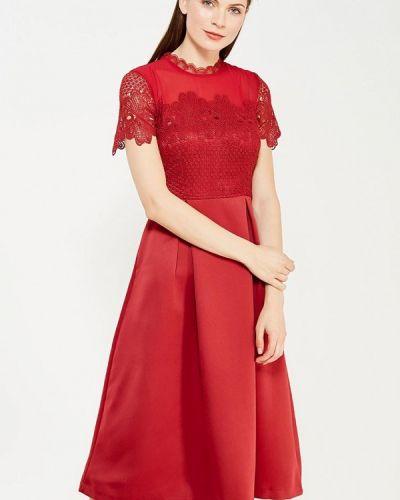 Вечернее платье красный осеннее Lucy & Co.