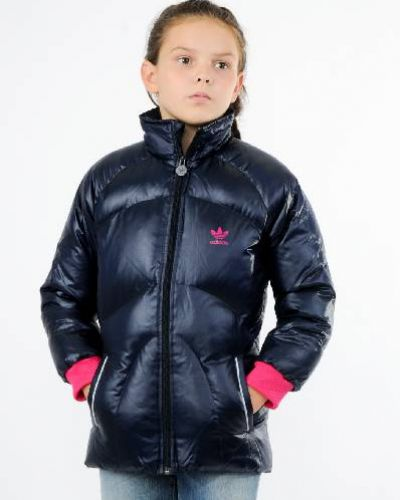 Пуховик с воротником-стойкой зимний Adidas