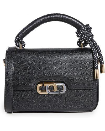 Czarna torba na ramię skórzana The Marc Jacobs