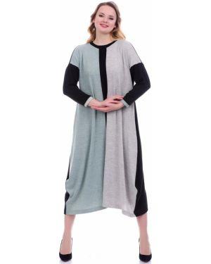 С рукавами платье миди в стиле бохо на каблуке Lautus