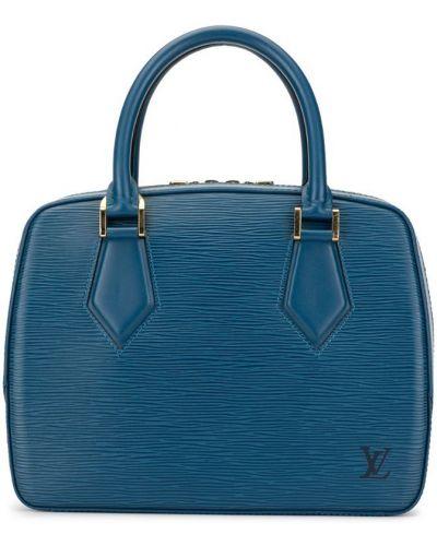 Синяя кожаная сумка круглая Louis Vuitton Pre-owned