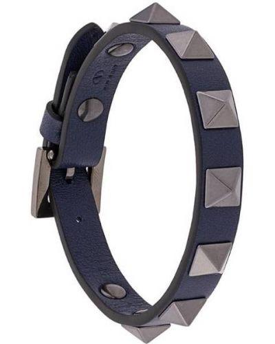 Браслет металлический синий Valentino