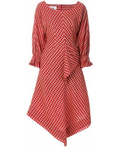 Платье в клетку с длинными рукавами Vejas