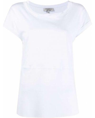 С рукавами белая футболка с вырезом Antonelli