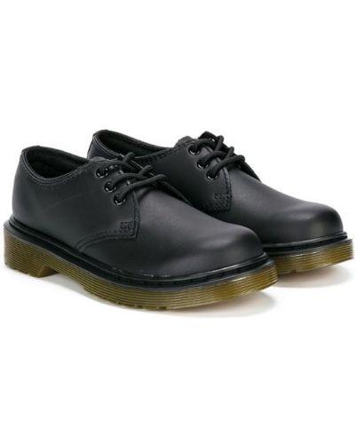 Туфли на шнуровке черные Dr. Martens Kids