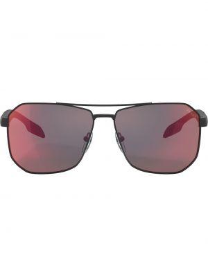 Солнцезащитные очки хаки квадратные Prada Eyewear