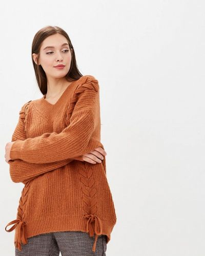 Коричневый пуловер Zeza