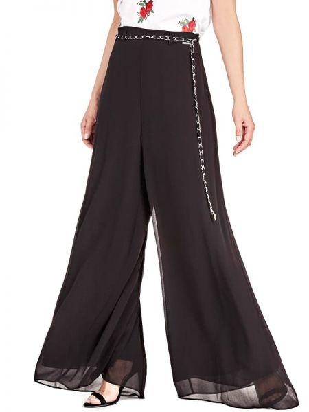 Szerokie spodnie z wzorem spodnie chuligańskie Guess