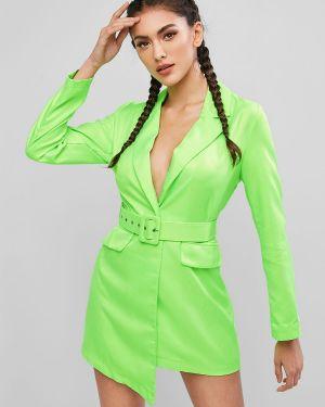 Платье с поясом на пуговицах платье-пиджак Zaful