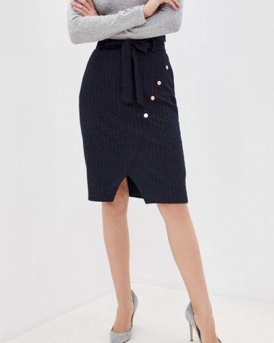 Синяя прямая юбка карандаш Naf Naf