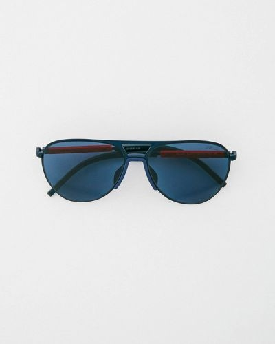 Синие итальянские солнцезащитные очки Prada Linea Rossa