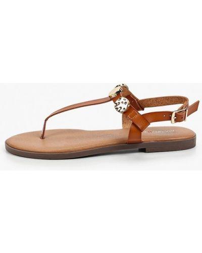 Коричневые кожаные сандалии Marquiiz