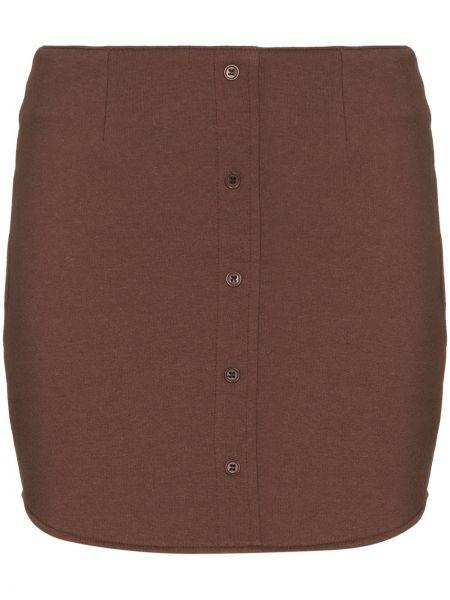 Brązowa spódnica mini bawełniana Danielle Guizio