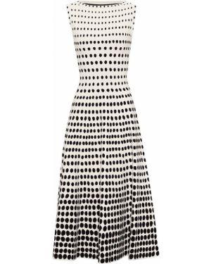 Вязаное черное платье миди Alaïa