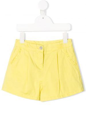 Желтые короткие шорты Knot
