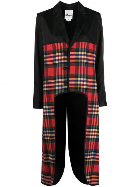 Черное пальто классическое в клетку на пуговицах Comme Des Garçons Noir Kei Ninomiya