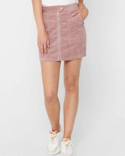 Розовая прямая юбка карандаш Jacqueline De Yong