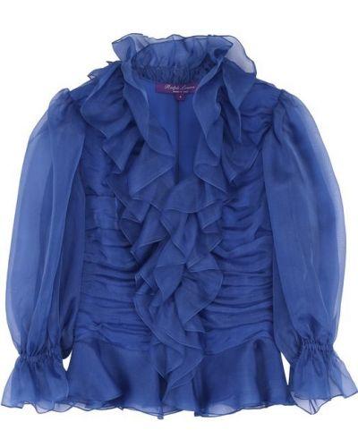 Блузка с V-образным вырезом с рюшами Ralph Lauren