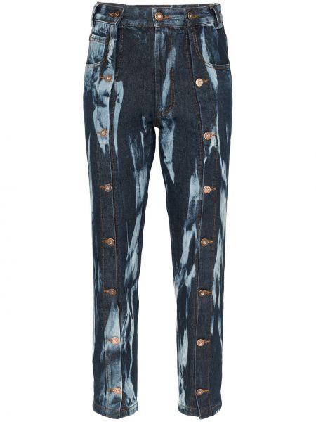 Классические прямые джинсы с карманами на пуговицах Delada