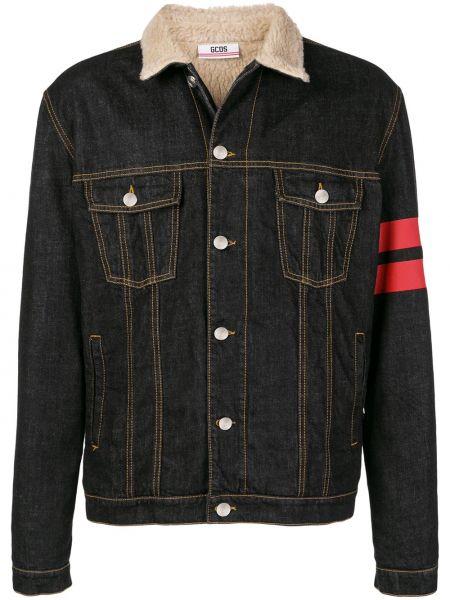 Джинсовая куртка черная на пуговицах Gcds