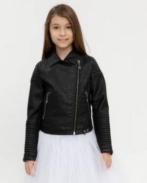 Кожаная куртка черная спортивная Gulliver Wear