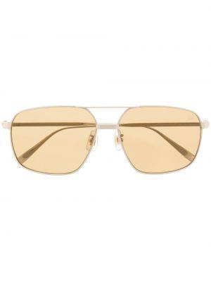 Żółte złote okulary Dunhill