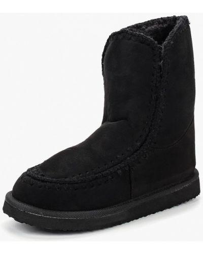 Черные угги замшевые Style Shoes