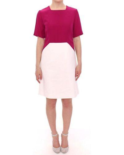 Różowa sukienka na co dzień krótki rękaw Cote