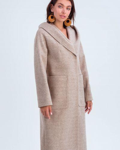 Шерстяное пальто - бежевое Emass