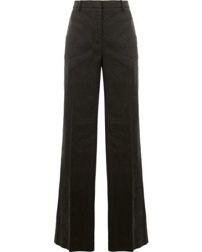 Свободные брюки льняные черные Ilaria Nistri
