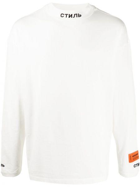 Koszula z długim rękawem długa z haftem Heron Preston