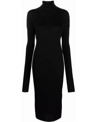 Czarna sukienka wełniana Mrz