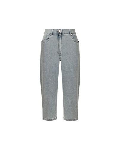 Хлопковые широкие джинсы свободного кроя Fabiana Filippi