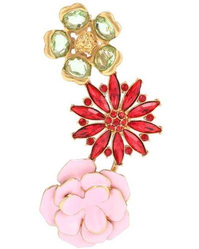 Złote kolczyki Versace