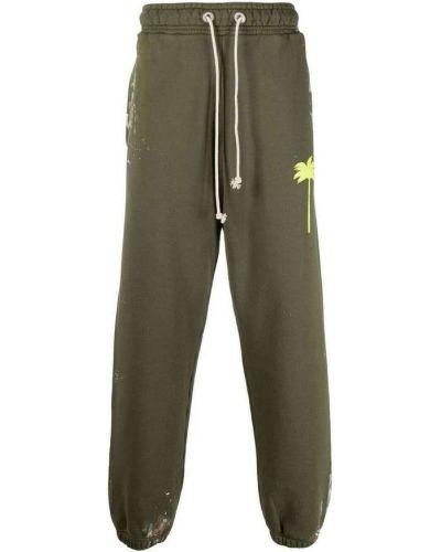 Zielone spodnie dresowe Palm Angels