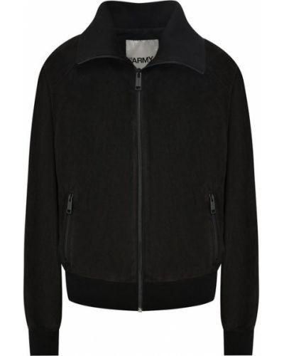 Кожаная куртка - черная Army Yves Salomon
