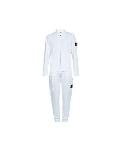 Белый спортивный костюм Stone Island