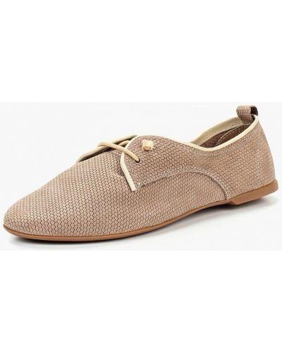 Бежевые ботинки из нубука Shoiberg