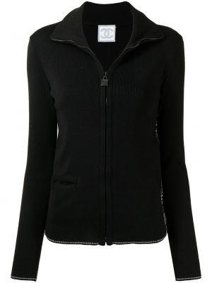 Черная куртка с воротником Chanel Pre-owned