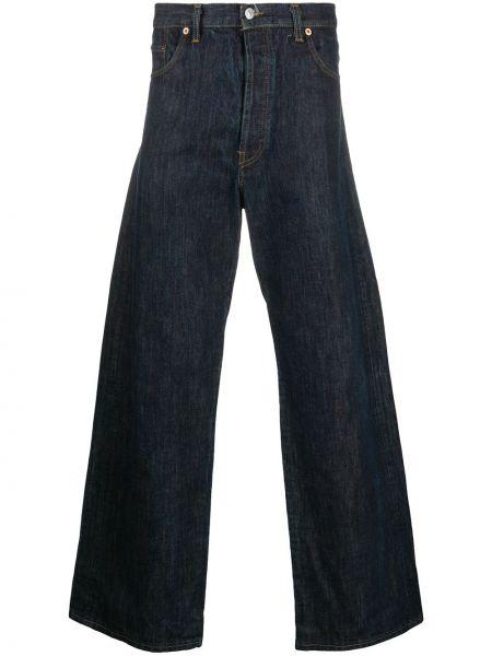 Синие классические джинсы с высокой посадкой свободного кроя Yohji Yamamoto Pre-owned