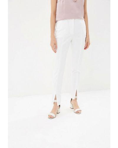 Белые брюки с завышенной талией Zarina