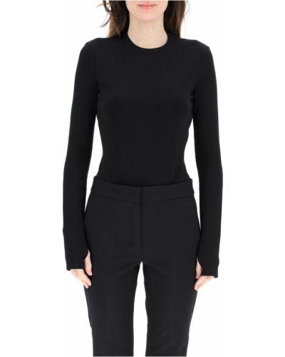 Czarny body z długimi rękawami Givenchy