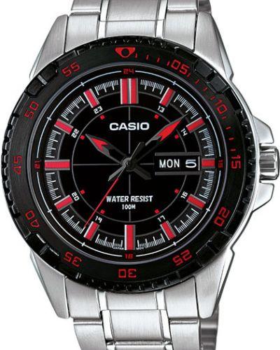 Часы водонепроницаемые спортивные серебряный Casio